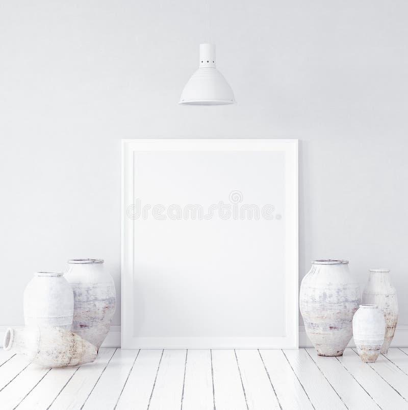 Maqueta en fondo interior nórdico imagen de archivo libre de regalías