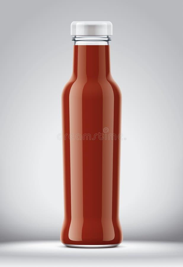 Maqueta plástica de la botella para las salsas imagenes de archivo