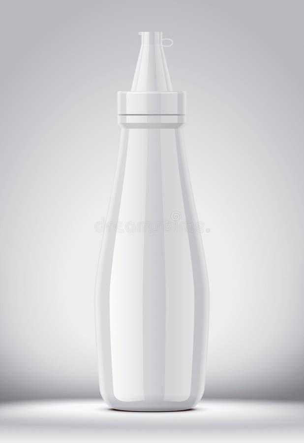 Maqueta plástica de la botella para las salsas Versión grande fotografía de archivo libre de regalías