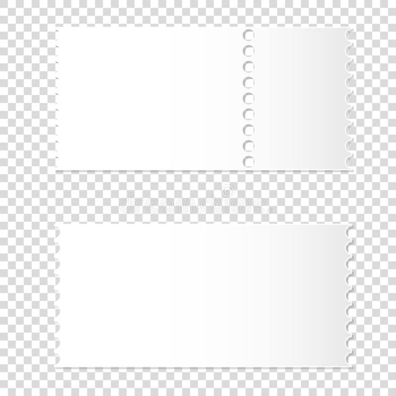 Maqueta realista del boleto blanco en blanco desmontable libre illustration
