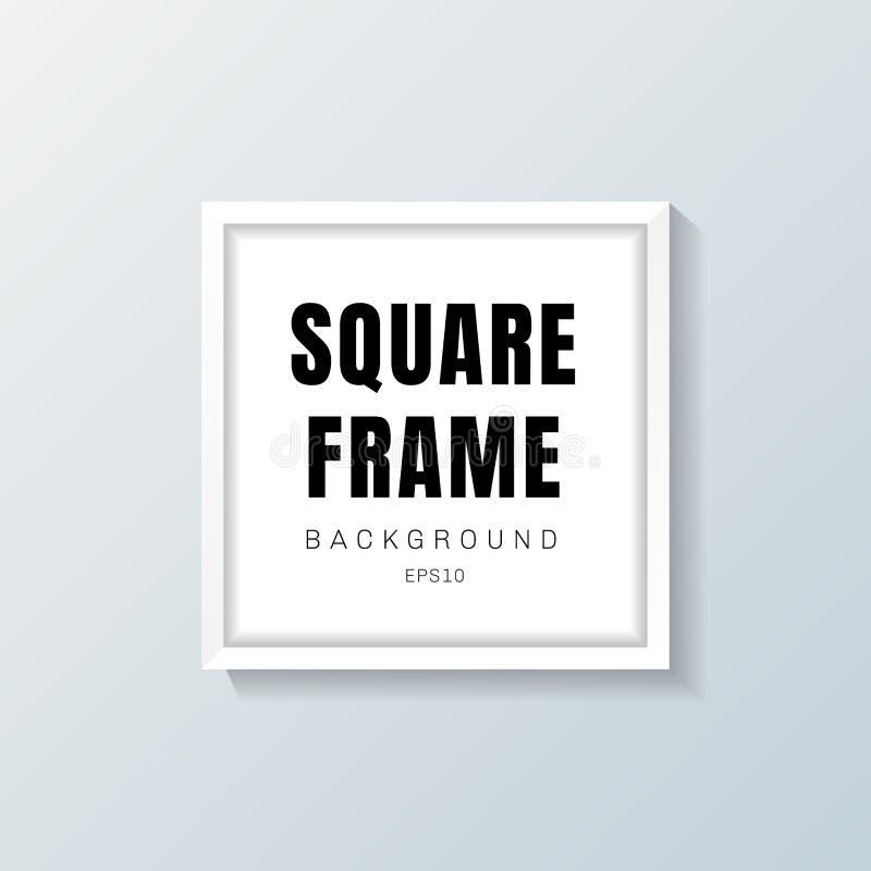 Maqueta realista del marco de la casilla blanca en fondo gris libre illustration