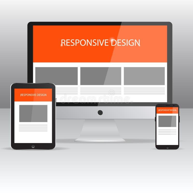 Maqueta responsiva del diseño libre illustration