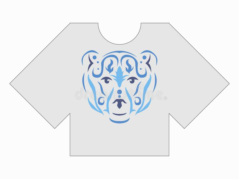 Maqueta tribal de la camiseta del oso libre illustration