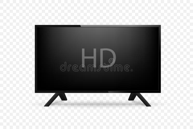 Maqueta TV realista en fondo transparant Vector libre illustration