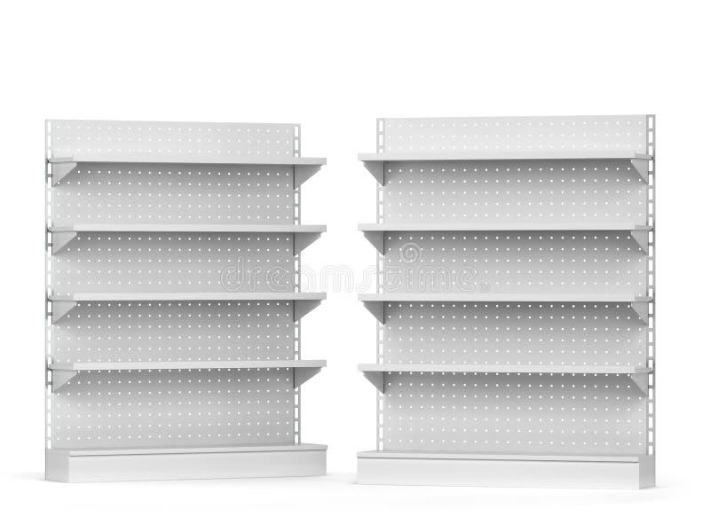 Maqueta vacía de los estantes del mercado ilustración del vector