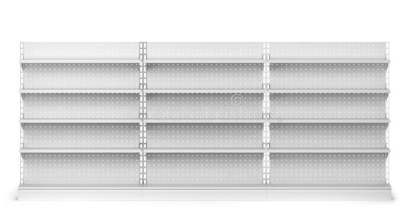 Maqueta vacía de los estantes del mercado libre illustration