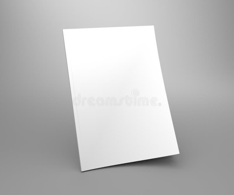 Maqueta vacía del ejemplo de la revista 3D de la cubierta de la situación del blanco stock de ilustración