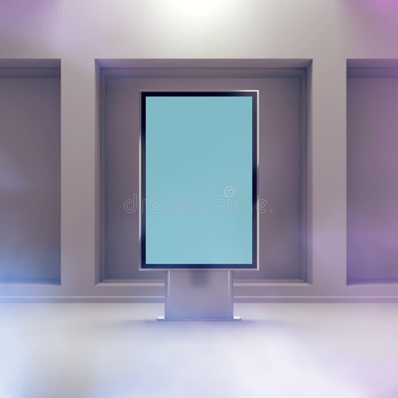 Maqueta vertical negra del monitor stock de ilustración