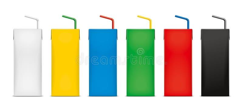 Maquetas para las bebidas de empaquetado del cartón versión fotografía de archivo libre de regalías