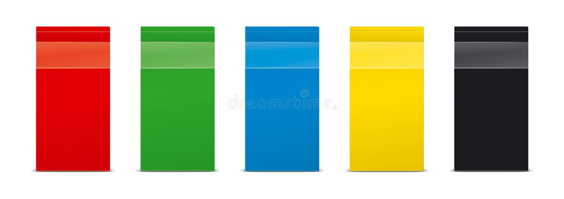 Maquetas para las bebidas de empaquetado versión imagen de archivo