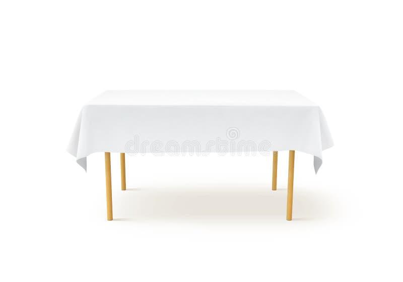 Maquette blanche de nappe de banque, chemin de coupure, image stock