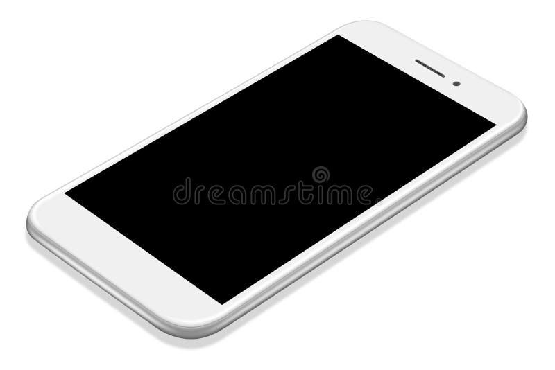 maquette blanche de smartphone de perspective réaliste de l'illustration 3D illustration libre de droits