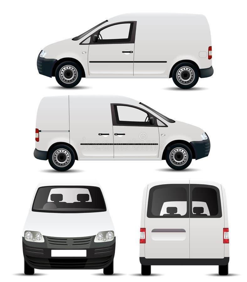 Maquette blanche de véhicules utilitaires illustration de vecteur
