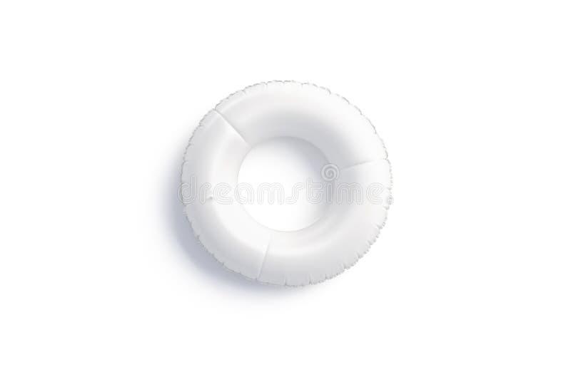 Maquette blanche vide d'anneau de bain d'isolement, vue supérieure, rendu 3d illustration de vecteur