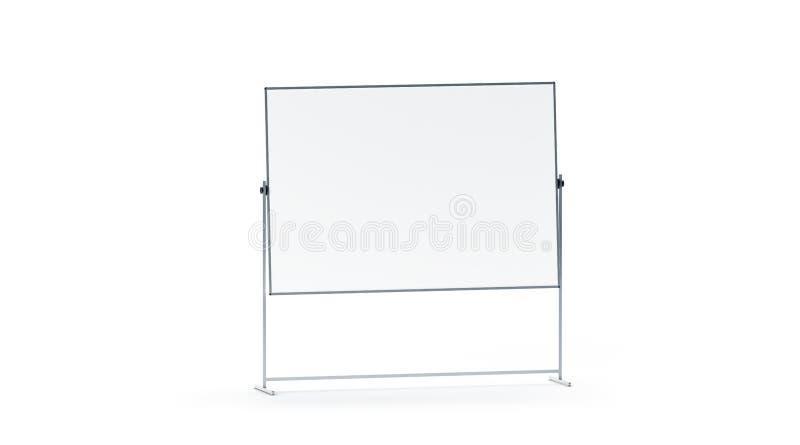 Maquette blanche vide de panneau de marqueur de bureau, d'isolement, illustration stock