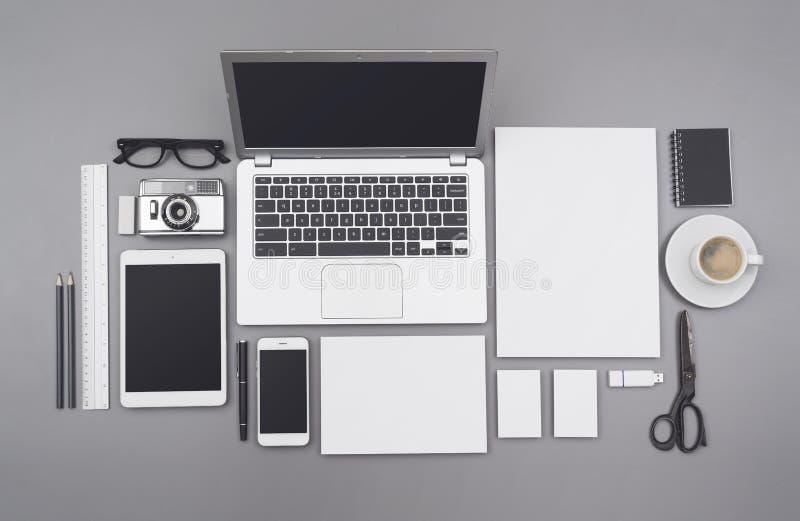 Maquette d'identité d'entreprise et de webdesign photos stock