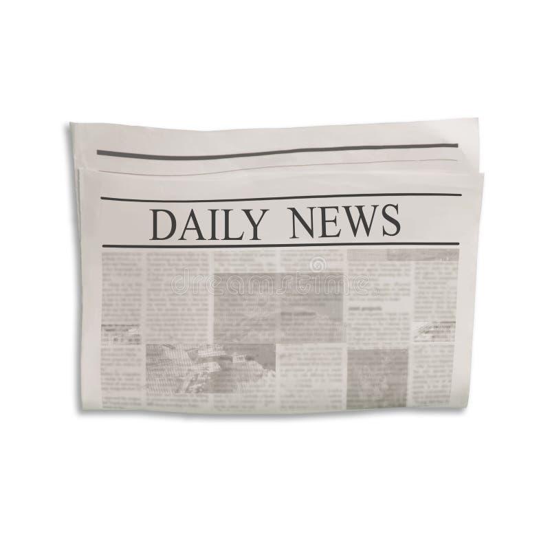 Maquette de blanc de journal de Daily News avec le texte illisible et les images illustration libre de droits