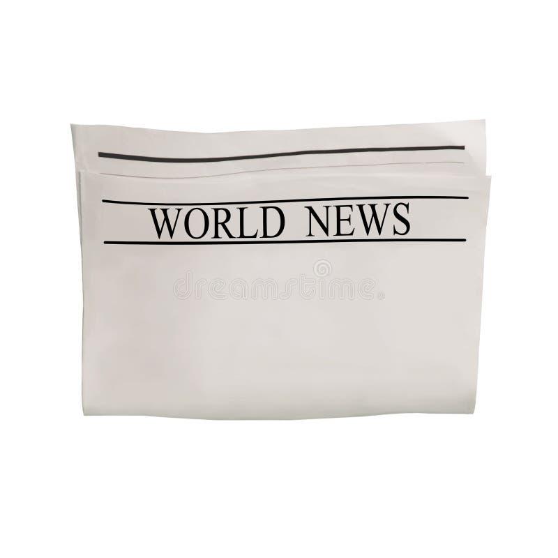 Maquette de blanc de journal de nouvelles du monde avec le texte illisible et les images photos libres de droits