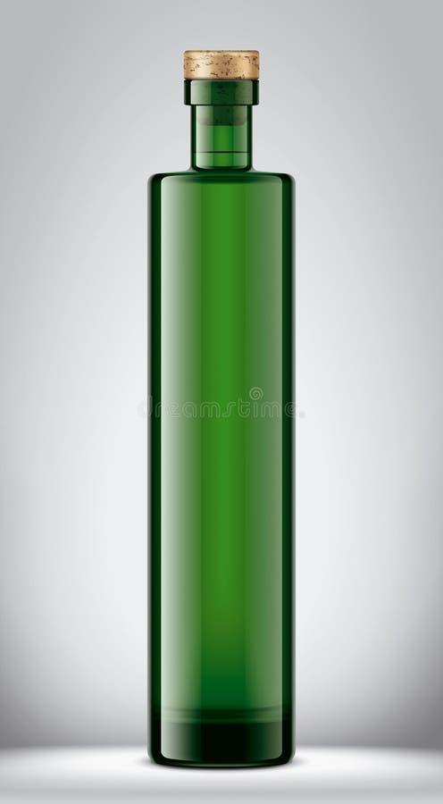 Maquette de bouteille en verre illustration libre de droits