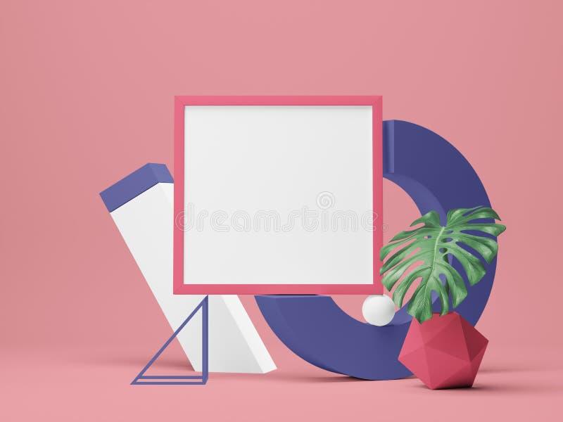 Maquette de cadre d'affiche illustration 3D illustration stock