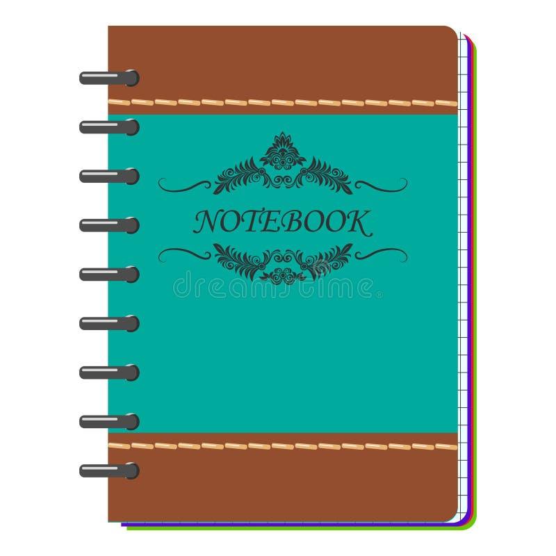 Maquette de carnet de notes à spirale avec l'endroit pour vos détails d'image, de textes ou d'identité d'entreprise illustration libre de droits