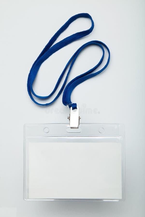Maquette de carte de l'insigne d'étiquette d'identité/nom de personnel/identification image libre de droits