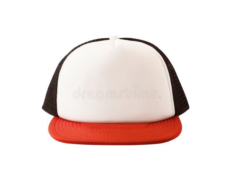 Maquette de casquette de baseball avec la maille noire photos stock