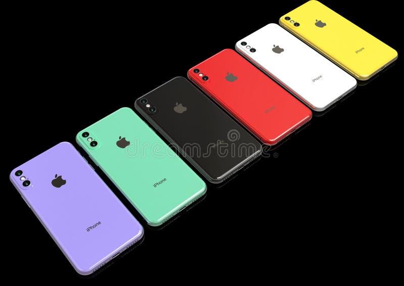 Maquette de conception coulée par successeur de l'iPhone XR d'Apple images libres de droits
