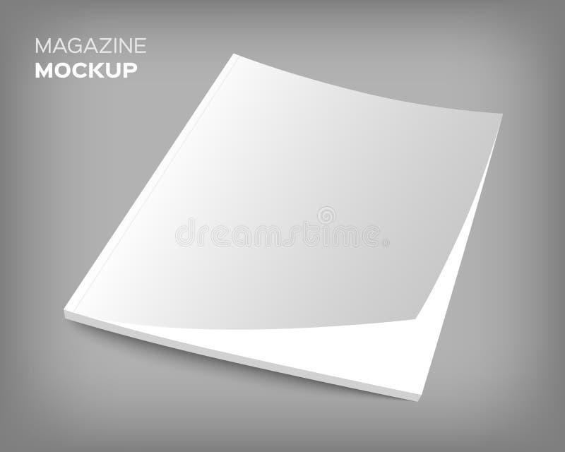 Maquette de couverture de brochure sur le gris illustration stock