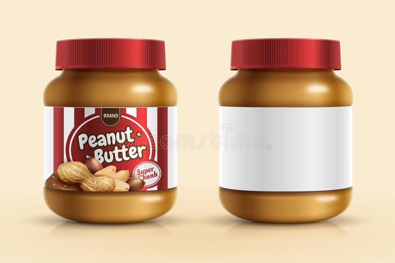 Maquette de diffusion de beurre d'arachide illustration de vecteur