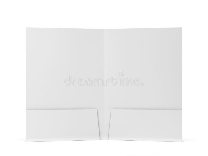 Maquette de dossier de papier blanc illustration stock