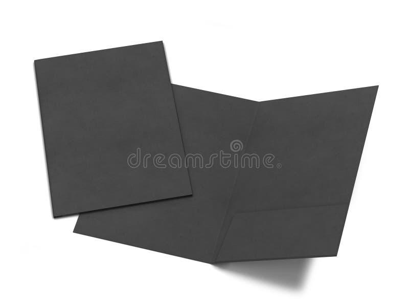 Maquette de dossier de papier blanc illustration libre de droits