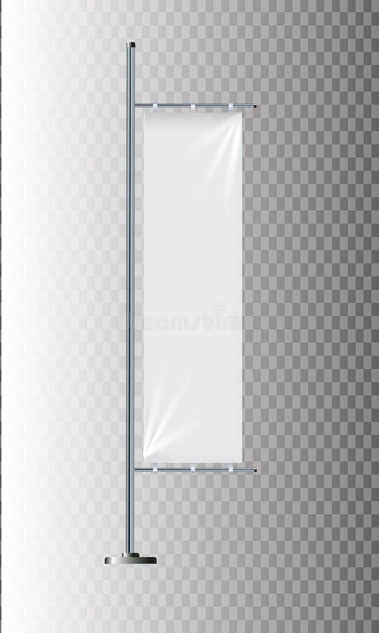 Maquette de drapeau Calibres de drapeau de bannière Ensemble de drapeaux de la publicité de vecteur Drapeaux verticaux vides noir illustration de vecteur