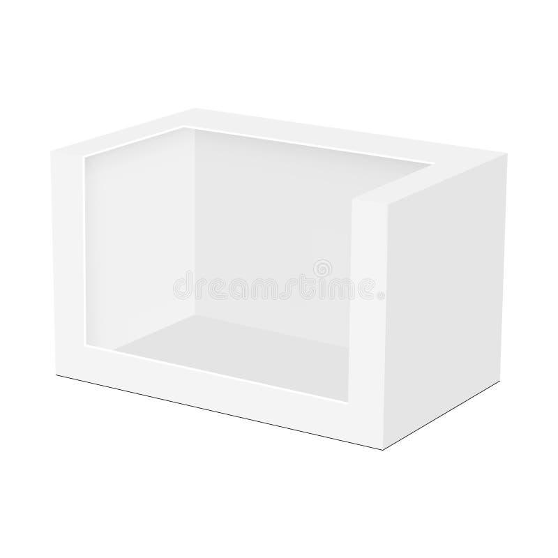 Maquette de empaquetage vide de boîte pour le jouet d'isolement illustration libre de droits