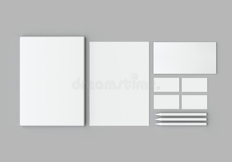 Maquette de papeterie photo stock