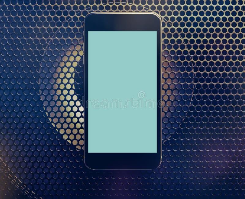 Maquette de smartphone moderne noir Chemin de coupure image stock