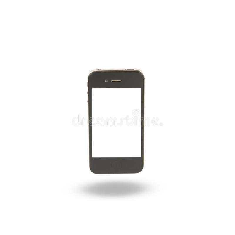 Maquette de style d'iphon de smartphone de téléphone portable avec l'OIN d'écran vide photographie stock