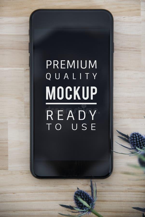 Maquette de téléphone portable image stock
