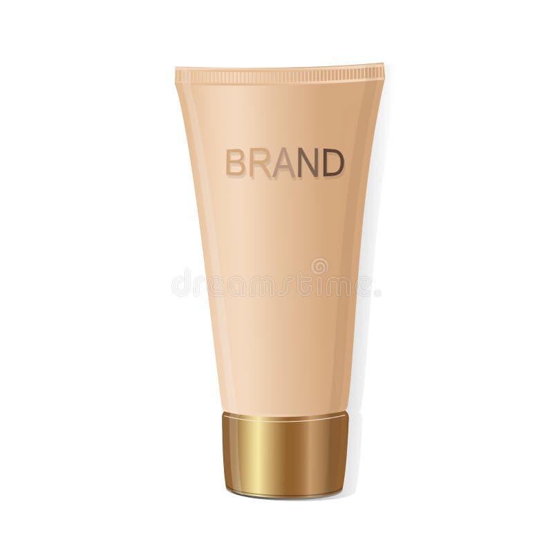 Maquette de tube pour la crème D'isolement sur le fond blanc Collection d'emballage Vecteur illustration de vecteur
