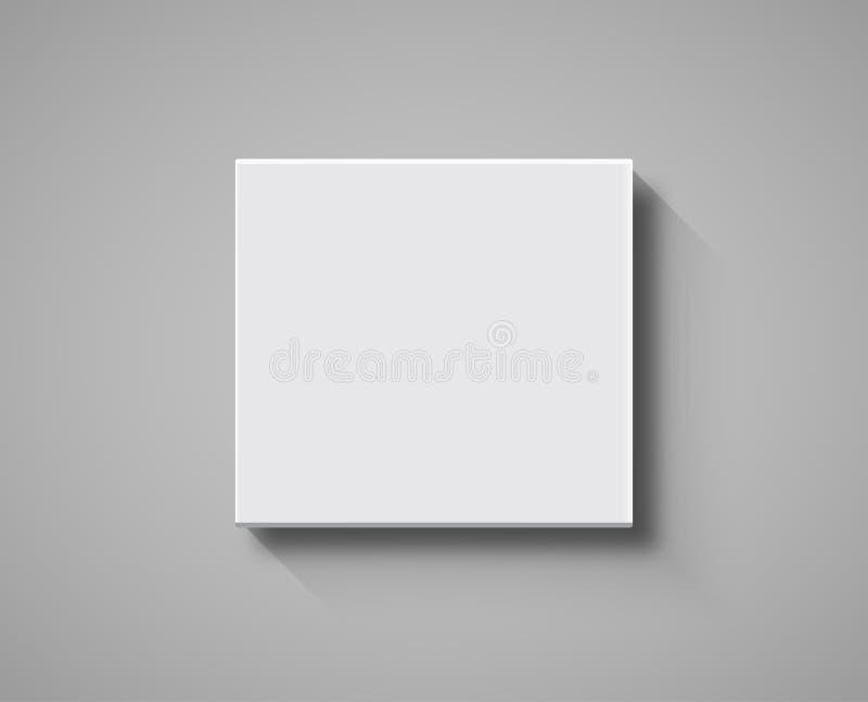 Maquette de vue supérieure de boîtier blanc conception de boîte d'isolement par calibre de blanc du paquet 3d illustration de vecteur