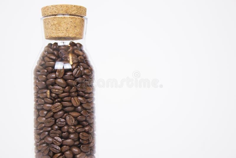 Maquette des grains de café sur le fond blanc d'isolement images stock