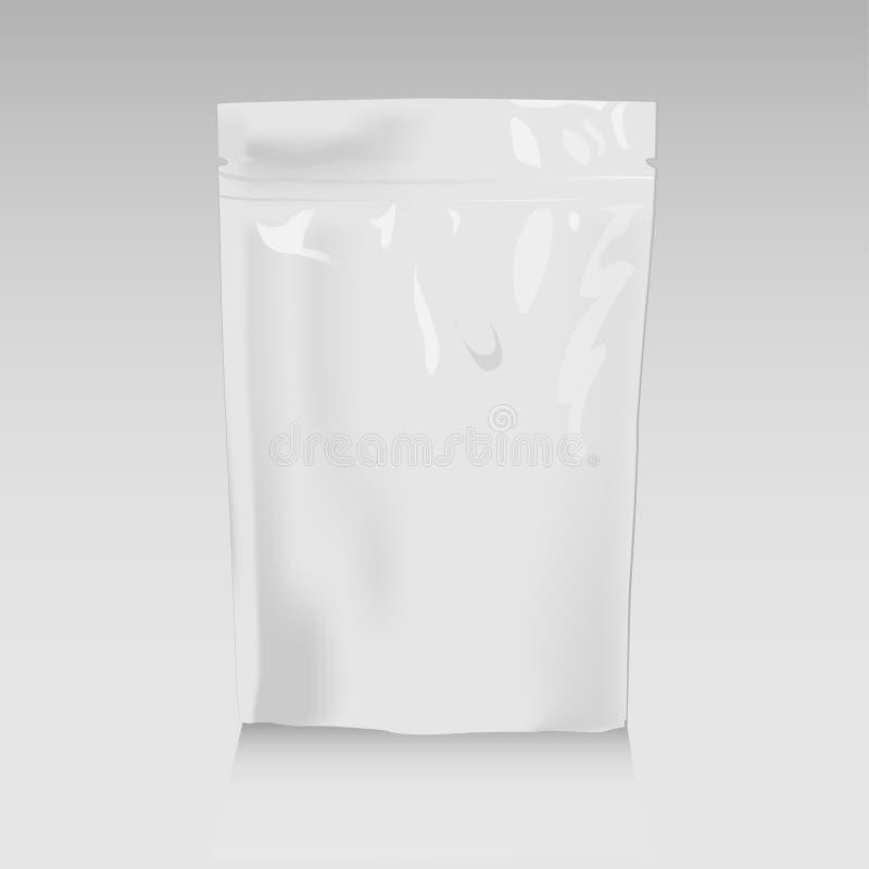 Maquette du casse-croûte bag2 illustration de vecteur