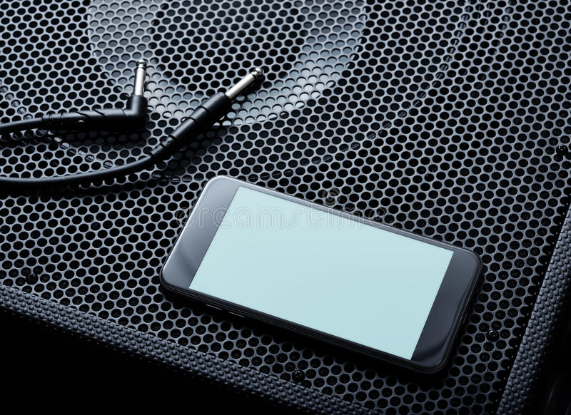 Maquette du smartphone moderne noir tourné gauche Chemin de coupure photo libre de droits