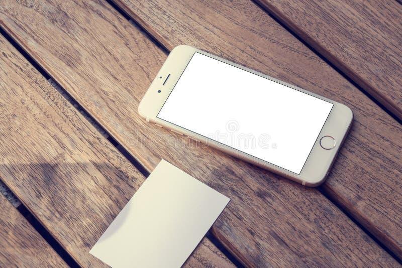 Maquette du téléphone 6 photos libres de droits