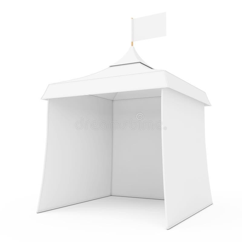 Maquette extérieure Te de salon commercial d'événement de la publicité promotionnelle blanche illustration libre de droits