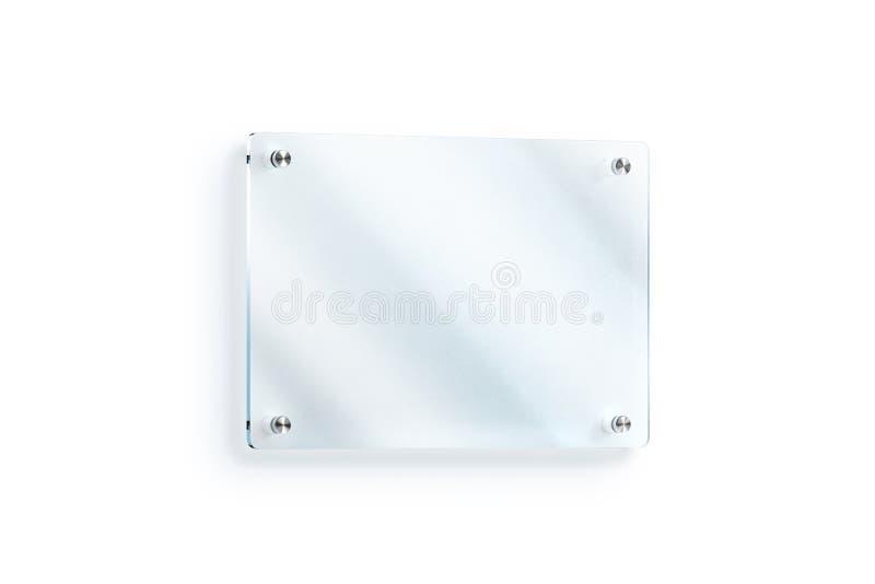 Maquette fixée au mur en verre vide de plat de signe, chemin de coupure illustration de vecteur