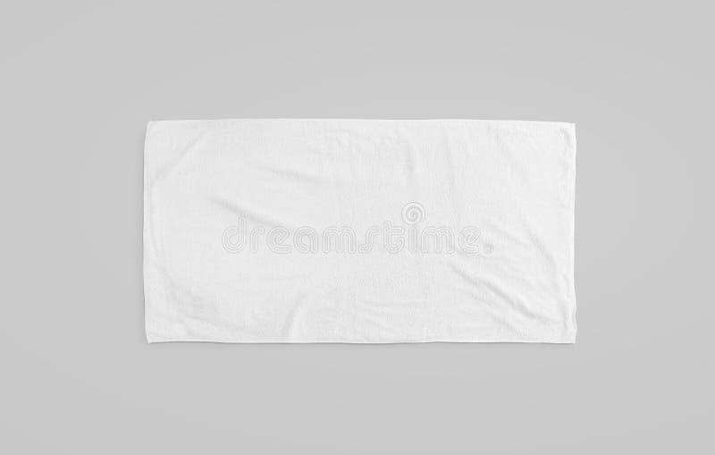 Maquette molle blanche noire de serviette de plage Dégagez l'essuie-glace dévoilé image libre de droits
