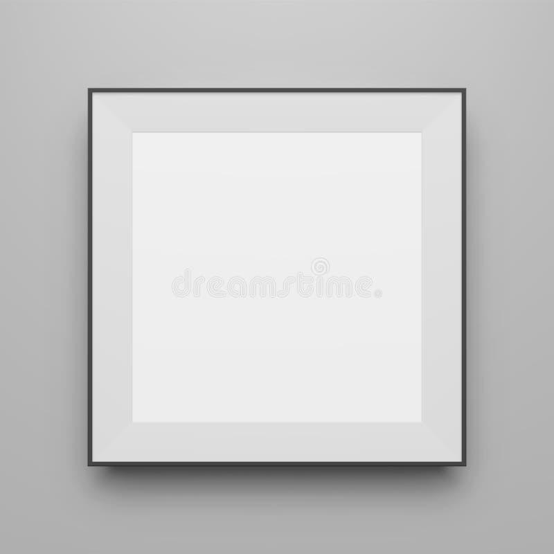Maquette noire carrée de vue de vecteur pour le portfolio illustration libre de droits