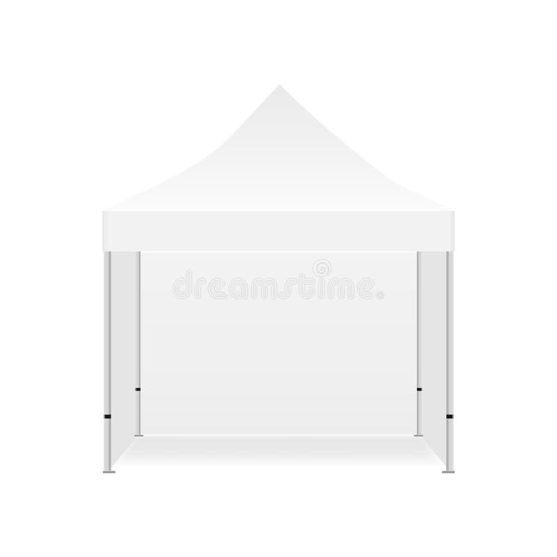 Maquette promotionnelle extérieure vide de tente avec trois murs illustration libre de droits