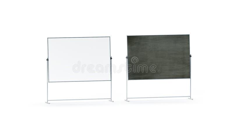 Maquette réglée vide de bureau de panneau blanc et noir de marqueur, d'isolement, illustration libre de droits